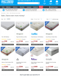 mattress tomorrow sale page