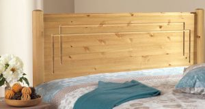 Friendship Mill Vegas Solid Pine Wooden Headboard