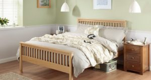 Silentnight Dakota Oak Wooden Bed Frame