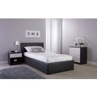 GFW Side Lift Ottoman Bed, Small Double, Faux Leather - White