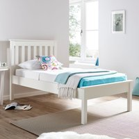Grace White Wooden Low Foot End Bed Frame - 4ft6 Double