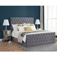 Marquis Grey Velvet Fabric Bed Frame - 4ft6 Double