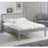Kingston Grey Wooden Bed Frame - 4ft6 Double