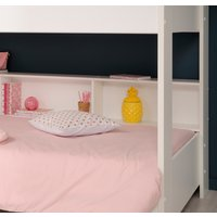Tam Tam White and Oak Wooden Bunk Bed Frame - EU Single