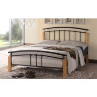 Time Living Tetras Metal Bed Frame, King Size, Silver & Beech