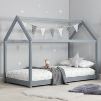 House Grey Wooden Bed Frame - 3ft Single