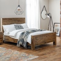 Hoxton Rustic Oak Wooden Bed Frame - 4ft6 Double