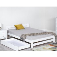 Xiamen White Wooden Bed Frame Only - 4ft6 Double
