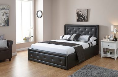 GFW Hollywood Faux Leather Ottoman Bed