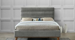 Time Living Mayfair Grey Fabric Bed Frame