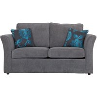 Buoyant Newry Sofa Bed, 2 Seater Sofa Bed with Standard Mattress, Aero Charcoal, Peony Chocolate